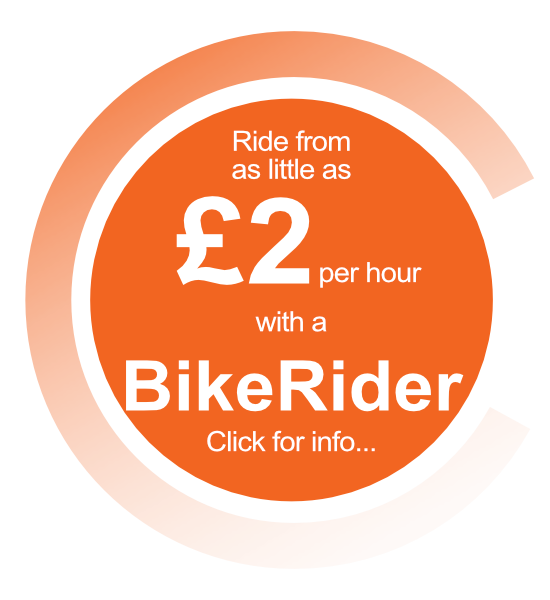 Ride from as little as £2 per hour with a BikeRider